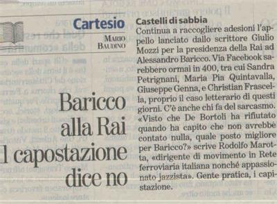 La Stampa, 20 marzo 2009