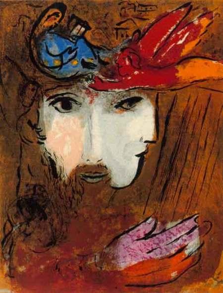 Chagall: Davide e Betsabea