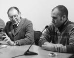Stefano Fugazza e Gabriele Dadati durante una conferenza stampa, 2008