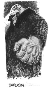 Don Sisma, illustrazione di Maurizio Rosenzweig