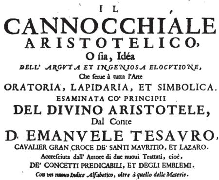 Emnauele Tesauro, Il cannocchiale aristotelico