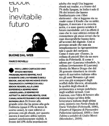 Questo articolo è apparso nel quotidiano L'unità il 19.01.2013.