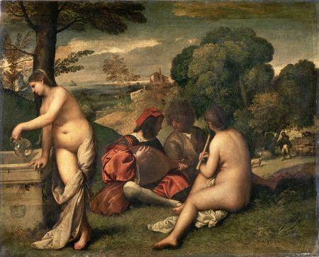Giorgione (o forse Tiziano): Concerto campeste