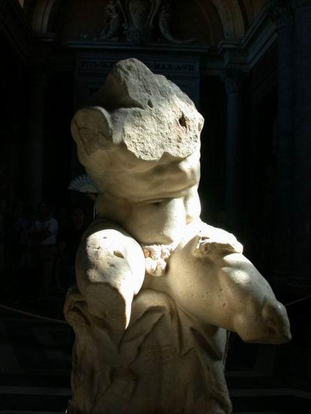 """Il celebre """"torso del Belvedere""""."""