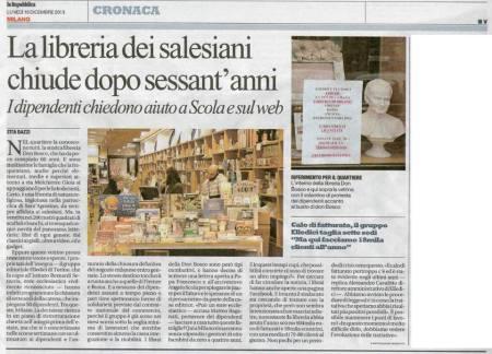 La Repubblica, cronaca di Milano, 16 dicembre 2013
