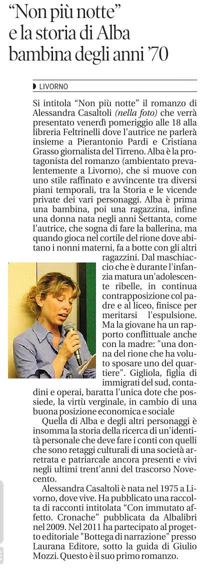 da Il Tirreno, 24 giugno 2014