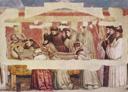 Giotto, I funerali di san Francesco