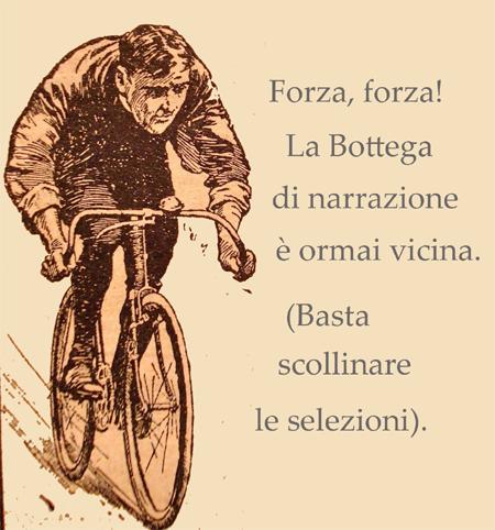 Un signore molto motivato pedala alacremente.