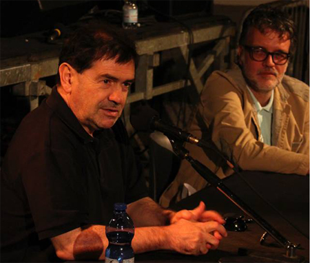 Alla vostra sinistra Giulio Mozzi, a destra Stefano Dongetti