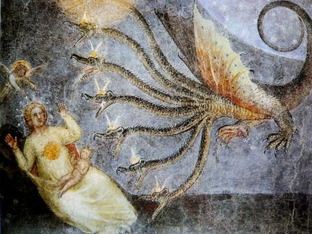 Padova, Battistero del Duomo, Scene dell'Apocalisse