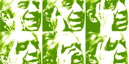 Eugenio Montale in green
