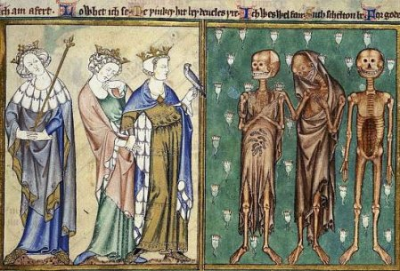 L'incontro dei tre vivi e dei tre morti