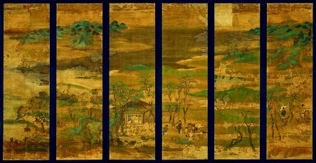Senzui byōbu, XI secolo.
