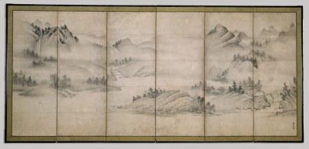 Sōami (1472-1525), Paesaggio delle quattro stagioni