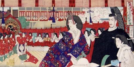 Tsukioka Yoshitoshi (1839-1892), Hinamatsuri a Shishinden