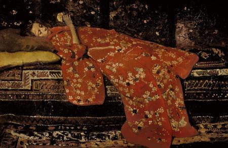 Hendrik Breitner (1857-1923), Il kimono rosso