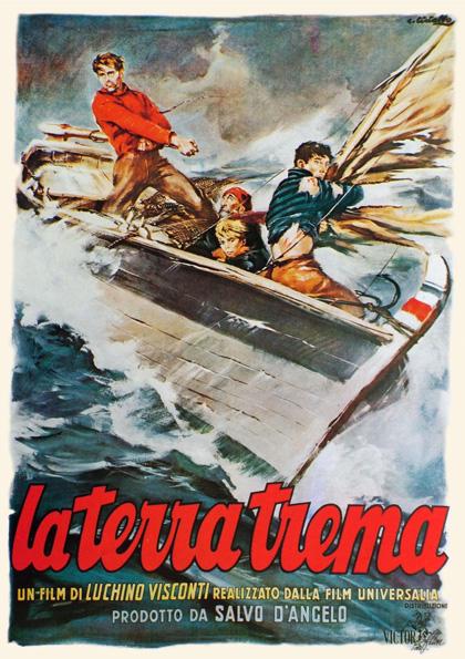 Locandina del film di Luchino Visconti liberamente ispirato a I Malavoglia di Giovanni Verga