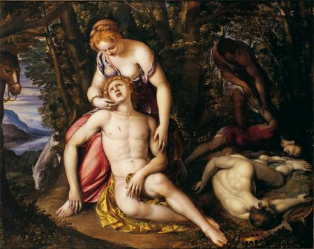 Angelica e Medoro, di Simone Peterzano (1535-1599)