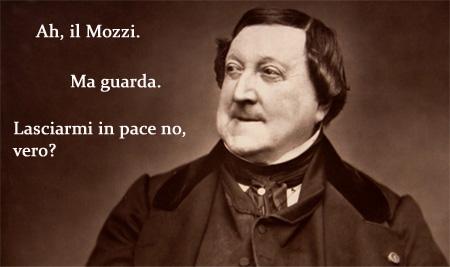 Giacchino Rossini manifesta tutto il suo entusiasmo
